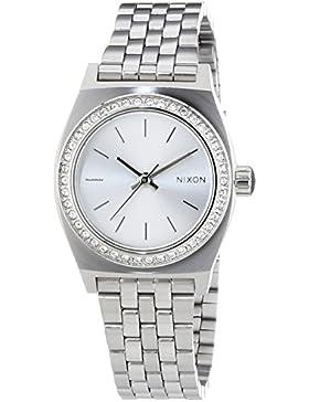 Nixon Damen-Armbanduhr XS Small Time Teller Analog Quarz Edelstahl A3991874-00