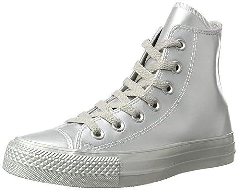 Converse Unisex-Erwachsene Chuck Taylor All Star Sneaker, Silber (Silver/Silver/Silver), 39.5 EU (Chuck Taylor Metallic Lo Top)