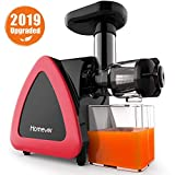 Homever Juicer, Slow Masticating Juicers Whole Fruit and Vegetable, Quiet Motor & Reverse
