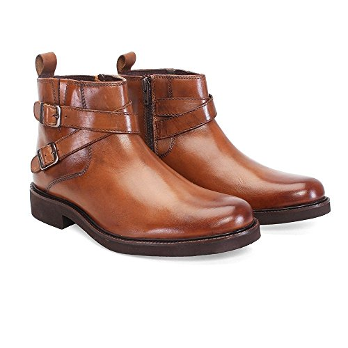 BRUNE-Tan-Color-100-Genuine-Leather-Ankle-Boots-For-MenDesigner-Boots-For-MenBranded-Biker-Boots-For-MenBest-Leather-Biker-Boots-For-MenQuick-Delivery