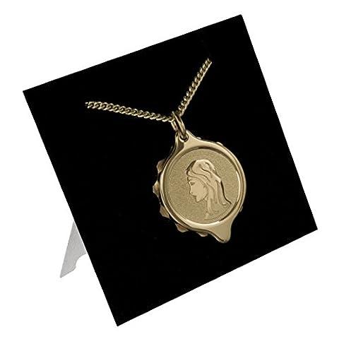 222315 Genuine SOS Talisman TM Virgo Medical ID Alert Pendant (Necklace) Gold Plated.