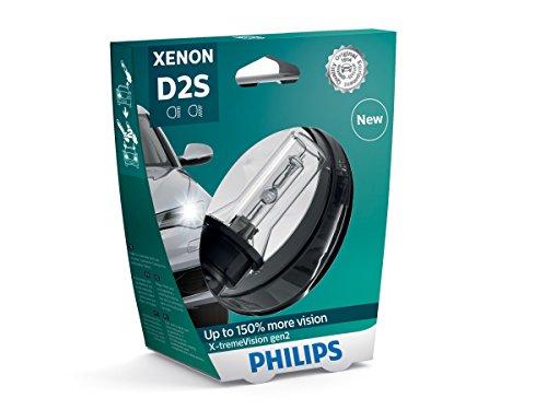 Philips 85122XV2S1 Xenon-Scheinwerferlampe X-tremeVision D2S Gen2, Einzelblister - 6 Brenner Natürliche
