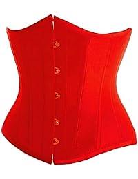 E-Girl design unique Corset près du corps,rouge