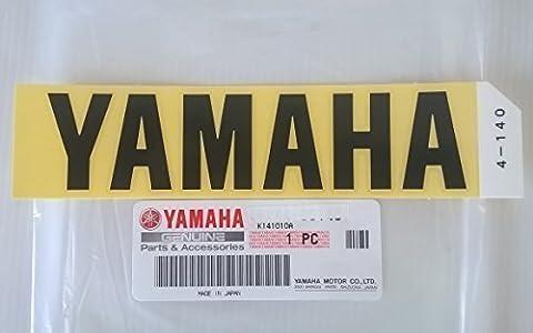 TOUT NEUF 100% YAMAHA D'ORIGINE Autocollant Emblème Logo noir GRAND Autoadhésif Moto / Jet Ski / ATV / Motoneige