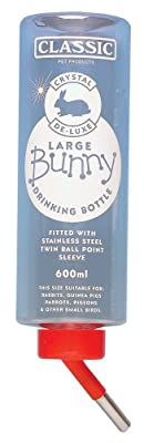 Europet Bernina 511-420690 Nagertrinkflasche Crystal Deluxe Mini Bottle, circa 75 ml, transparent