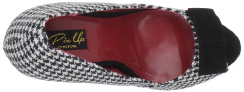 Pin Up Couture BELLA-11 BELLA11 Damen Pumps Houndstooth Fabric-Blk