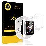 K&L LK Apple Watch Series 4 Schutzfolie, Liquid Skin [6 Pack 44mm Serial 4], [Vollständige Abdeckung] [Blasenfreie] HD klar Flexible Folie for Apple Watch Schutzfolie, 44mm Series 4