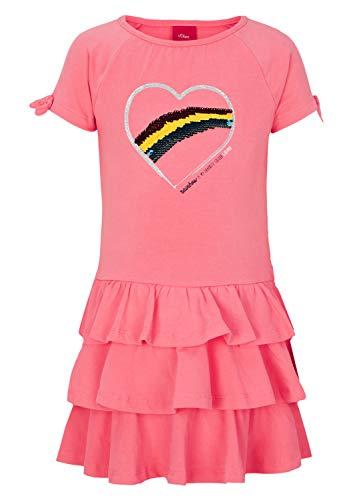 s.Oliver Mädchen 53.903.82.5792 Kleid, Rosa (Coral Red 4281), 128 (Herstellergröße: 128/REG) (Coral Junior Kleid)