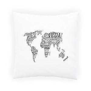Collage Del Mapa Mundial Almohada decorativa, Funda de cojín con inserto o sin, 45x45cm s568p