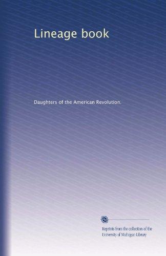 Lineage book (Volume 84) PDF Books