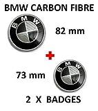 Emblemas de Fibra de Carbono para Maletero, 82 y 73mm