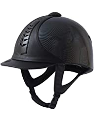 Dublin Silver Pro Horse Graphic Riding Hat - Black