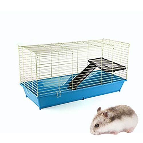 FXQIN Deluxe Hamsterkäfig, für Meerschweinchenratten Rennmaus Chinchilla Igel Kleintiere, 71 * 43 * 40cm, blau -