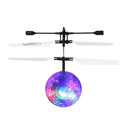 Yootu Spielzeug RC Fliegender Ball, Infrarot Induktion Hubschrauber Ball mit Rainbow Shining LED Lichter und Fernbedienung für Kinder, Flying Toy für Jungen und Mädchen Für Kind - Gesichts-licht-schalter