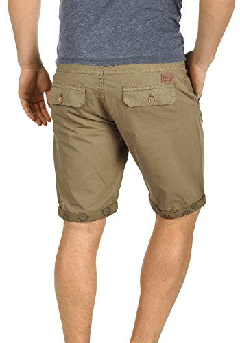 BLEND Claudio Herren Chino-Shorts kurze Hose Business-Shorts aus 100% Baumwolle Lead Gray (70036)