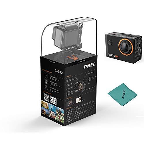 ThiEYE i60 4K 30fps WiFi Action Kamera 170 ° Weitwinkelobjektiv 2,0-Zoll-TFT-LCD-Bildschirm 4-Fach Zoom 60m Wasserdichte Unterstützung Zeitraffer-Zeitlupe mit Lithium-Batterie