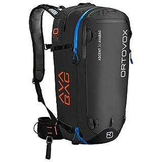 Ortovox Herren Ascent 30 ohne Avabag Rucksack, Black Anthracite, 57 x 27 x 20 cm, 30 Liter