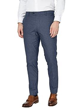 next Hombre Pantalones Textura Algodón Regular Ropa Pantalones