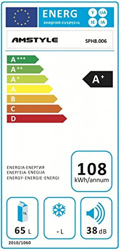 Amstyle Mini Kühlschrank 65 Liter
