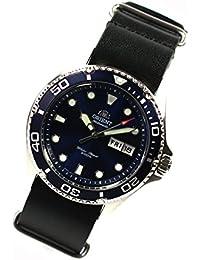 Orient Ray II Deep Blue Diver–Reloj de Buceo automático reloj de piel NATO banda