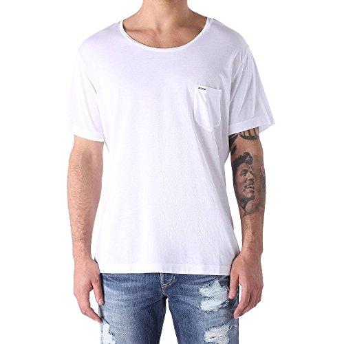 DIESEL - Herren- Schwarzes T-Shirt mit Rundhalsausschnitt und Logo T-Kronox für herren Weiß