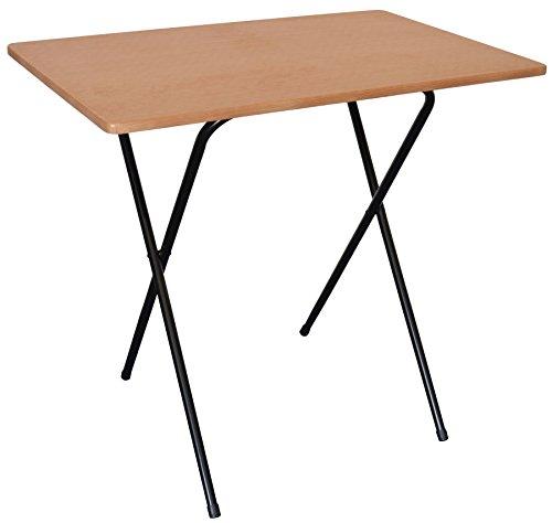 Table-en-bois-pliable-pour-ordinateur-de-bureau-ou-ordinateur-portable-de-Harbour-Housewares-armature-noire-dessus-de-table-imitation-bois