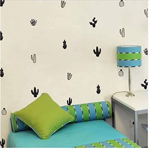 Fxq Wall Sticker 32 Abziehbilderkaktus Wandaufkleber Woodland Tribal Cactus Wandtattoos Für Kinder Baby Kinderzimmer Dekor Kunst Sukkulenten Und Kakteen Wand3,5 * 6,5 Cm