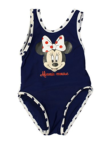 Minnie Mouse Official Baby-Girls Swimsuit 12 Months Blue