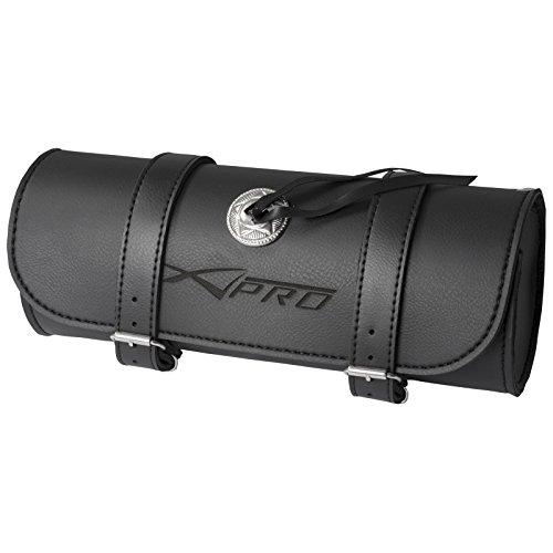 A-pro Tool Roll Saddle Bag Motorcycle Motorbike Biker Panniers 32X13cm Black