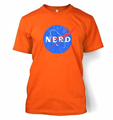 Nerd NASA logo Männer T-Shirt Orange