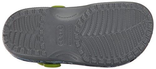 Crocs Classicgrphclgk, Sabots Mixte Enfant Vert (Camo)