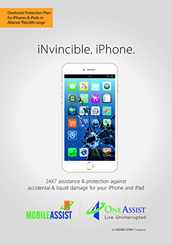OneAssist Accidental & Liquid Damage Protection Plan for iPhones & iPads Above Rs 60000 Range