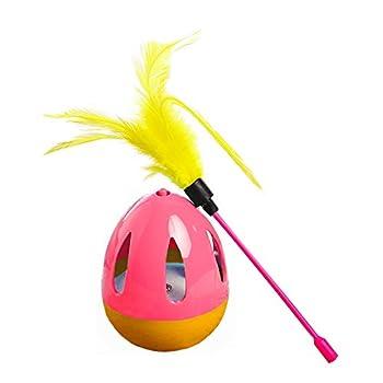 Gobelet Chaton Balles de jouets interactifs Jouets pour Chat Teaser Baguettes avec plumes