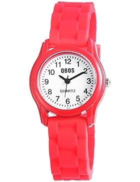 QBOS Unisex-Armbanduhr Analog Quarz Kautschuk RP4828500001