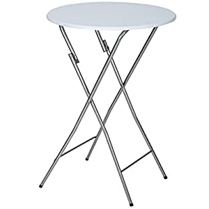 Tectake table de bistrot table haute de bar env 110 cm - Amazon table de bar ...