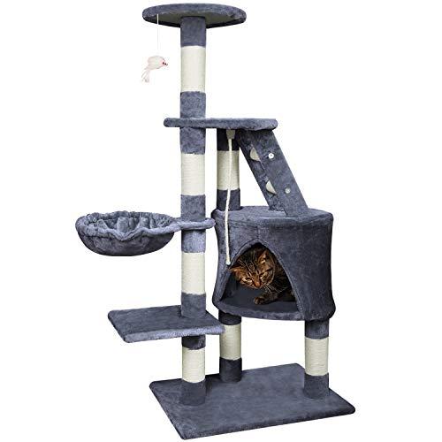 Nuestro árbol de gato de alta calidad le ofrece a su gato casi todo lo que debe tener un árbol de gato.   Este tipo de árbol de gato hará que tu gatito viva más cómodo, juegue más placentero y más seguro.   Un paraíso de juego ideal para su gato y...