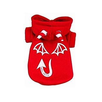 Chiot Chiens Vêtements,Sweatshirts à Capuche en Coton Camouflage Woodland vêtements de Chien vêtements pour Animaux domestiques,Manteau Habits pour Chien (L, Rouge)