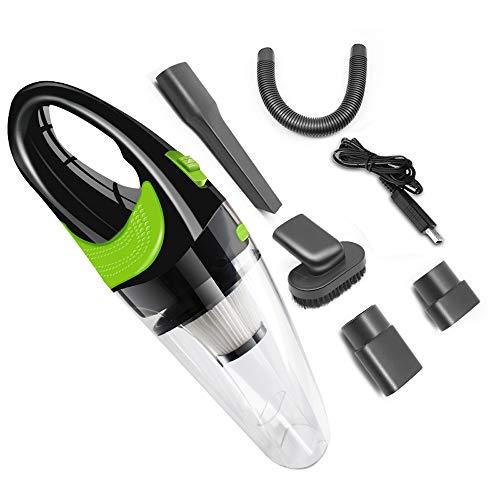 MCBQ Auto-Staubsauger USB Staubsauger Nass Und Trocken Starker Sog Wenig Lärm Stumm Hohe Energie Tragbarer Staubsauger,Clear