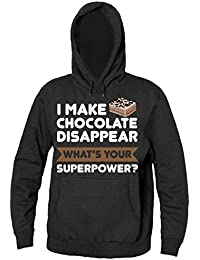 I Make Chocolate Disappear Whats Your Superpower? Hombres sudadera con capucha