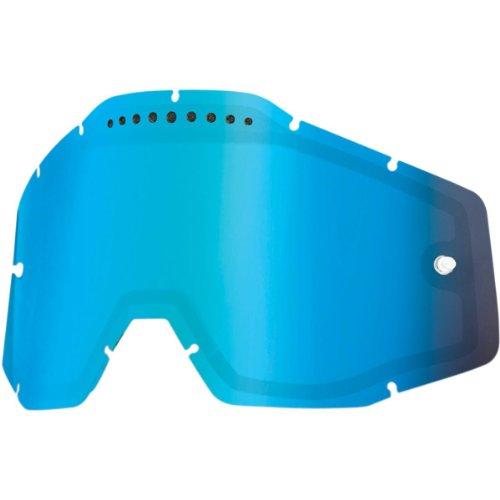 100% Racecraft/Accuri/Strata Vented Dual Pane Linse Anti-Nebel, Blau, One Size (Verspiegelte Goggle Leistung)