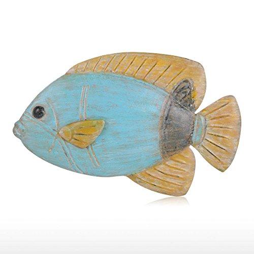 Tooarts Wanddeko Wanddekoration aus Eisen zum Hängen und Stellen Wohnzimmer Fisch