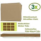 Thorani 3er Set Ersatz-Klebestreifen und doppelseitige Ersatz-Klebesticker für Blickschutzfilter I Sichtschutzfolie für Monitor, Laptop und MacBook