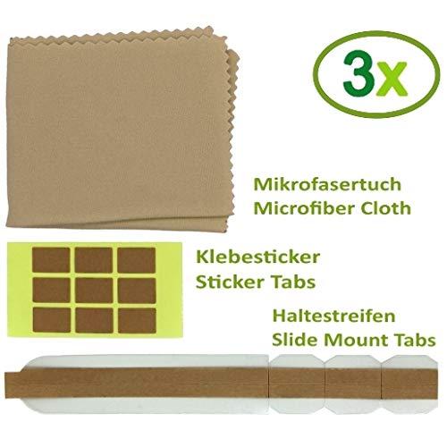 Thorani 3er Set Ersatz-Klebesticker und doppelseitige Ersatz-Klebesticker für Blickschutzfilter I Sichtschutzfolie für Monitor, Laptop und MacBook