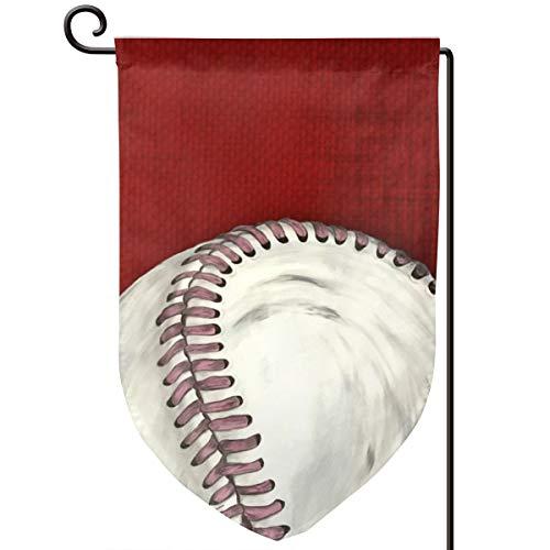 Lilyo-ltd Vintage Baseball Art Garten Hofflagge 31,8 x 45,7 cm, doppelseitig, Polyester - Vintage-baseball-art
