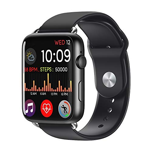 Zhangdi DM20 Smart Watch Schrittzähler Smart Watch mit IPS Monte Vollbildung, IP67 wasserdicht, unabhängige Unterstützung von Papieren und Multisport Mode & 2MP Camera & WiFi (n schwarz