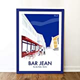 Haritz Affiche Bar Jean Biarritz 50x70cm