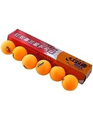 Bazaar 3 étoiles 6 photos 40mm dhs balles de ping pong olympique d'orange de ping-pong durables pour la compétition