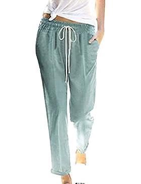 BIRAN Pantalones Mujer Pantalones Harem Pantalones De Tiempo Libre Correas Cruzadas Pantalones Verano Fino Pants...