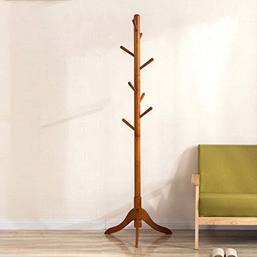 Perchero de madera piso percha dormitorio Creative Foyer salón moderno minimalista percha ropa rack (8 ganchos),Brown
