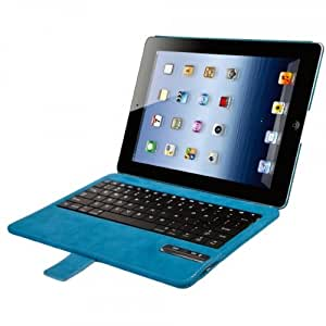 SonnyGoldTech - iPad 4 keyboard case with auto sleep & awake function | Colour: blue